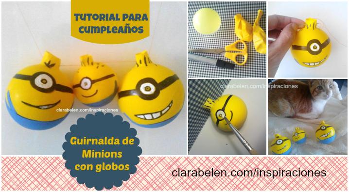 guirnalda de los Minions con globos