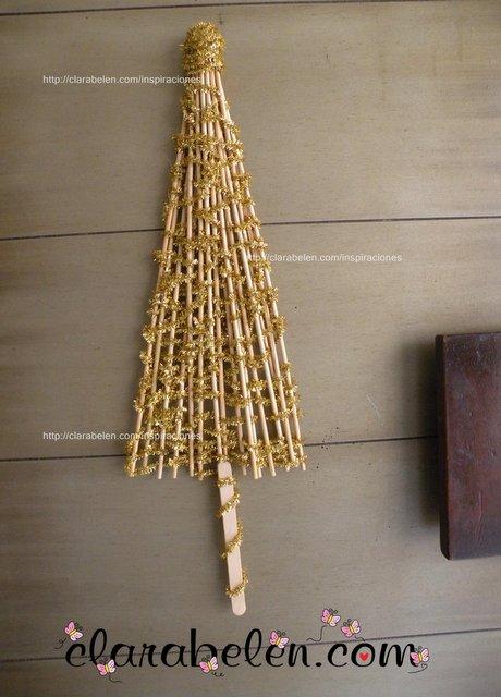 Arbol de Navidad casero para manualidades fáciles  DIY tutorial  (21)