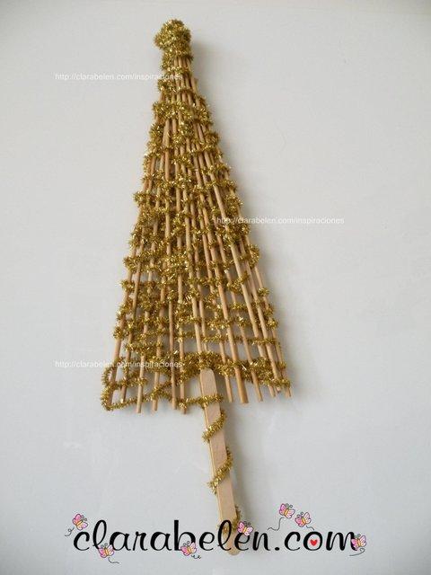 Arbol de Navidad casero para manualidades fáciles  DIY tutorial  (24)