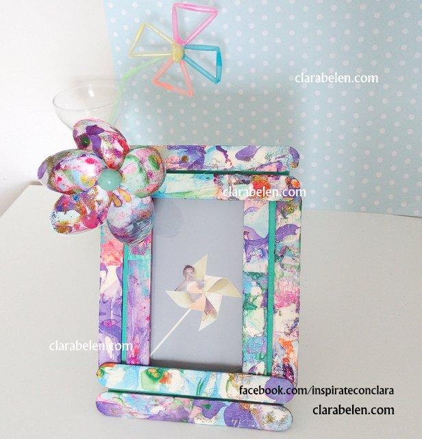Inspiraciones manualidades y reciclaje tutorial para - Como hacer marcos de fotos faciles ...