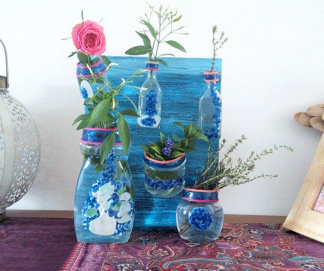 Inspiraciones manualidades y reciclaje manualidades for Reciclar botes de cristal decoracion