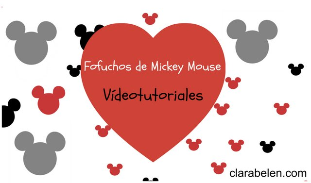 Fofuchos de Mickey Mouse en tutorial
