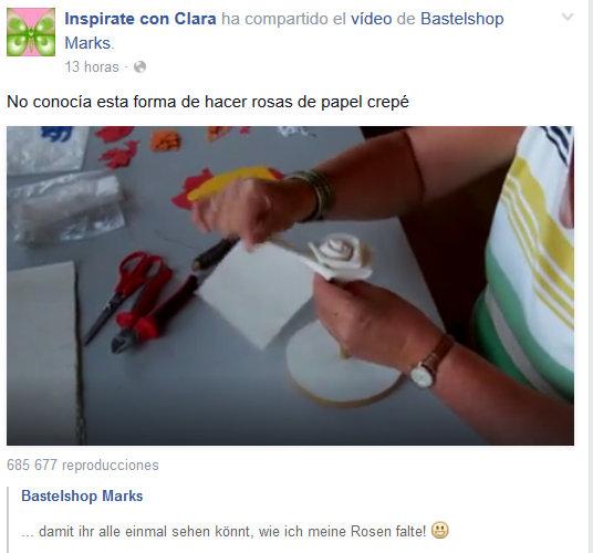 Como se hace una rosa de papel crepe