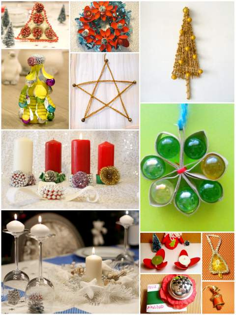 Inspiraciones manualidades y reciclaje recopilaci n de - Ideas decoracion navidad manualidades ...