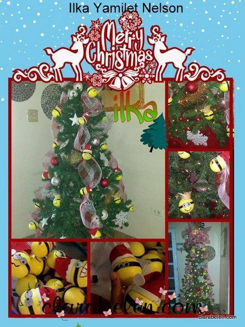 Arbol de Navidad Minions de Ilka Yamilet Nelson