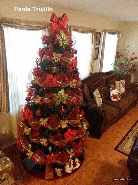 Inspiraciones manualidades y reciclaje c mo hacer - Imagenes de arboles navidad decorados ...