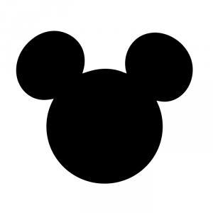 Cabeza Mickey rayas negras blancas
