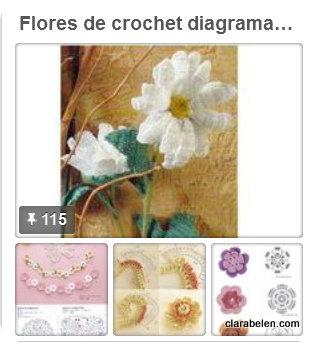 Mas de 100 diagramas o esquemas de flores de crochet