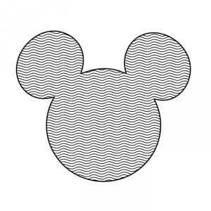 cabeza mickey lineas onduladas