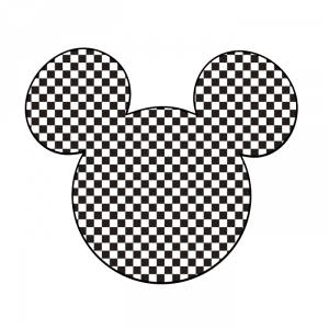 cabeza tablero de ajedrez negro