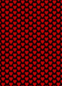 fondo corazones rojos y fondo negro