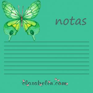 imprimibles de blocs de notas con mariposas